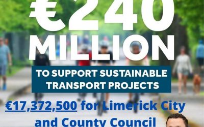 Minister O'Donovan – Limerick City and County Council granted €17,372,500 for walking and cycling infrastructure