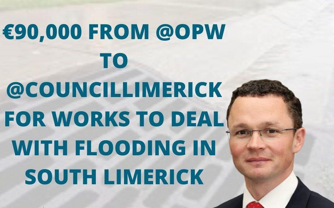 €90,000 for drainage works in Galbally, Kilmallock, and Kilfinane.