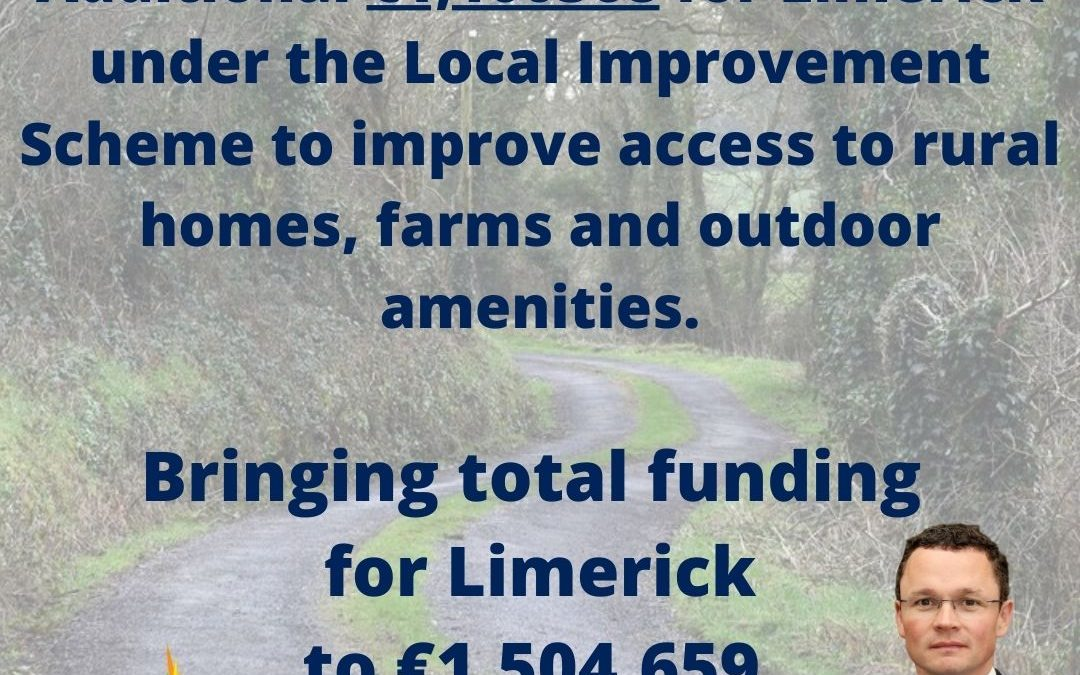 Minister for the Office of Public Works Patrick O'Donovan has announced that total funding of over €1.5million